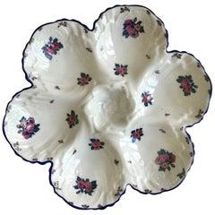 Porcelain Roses Oyster Plate Limoges, circa 1920