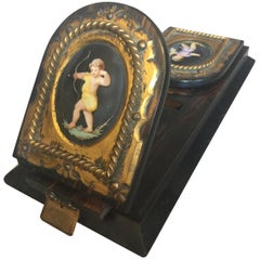 Victorian Brass-Mounted Coromandel Book Rack by Betjemann's, circa 1860