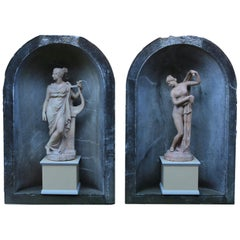 Pair of Antique Statues of the Callipygian Venus and Terpsichore Muse