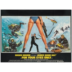 For Your Eyes Only Original UK Film Poster, 1981, Brian Bysouth
