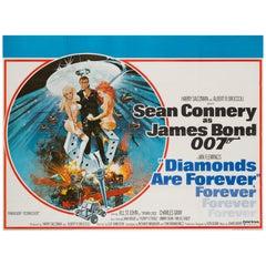 Diamonds Are Forever Original UK Film Poster, 1971, Robert McGinnis
