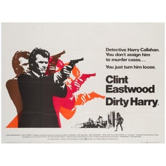 Dirty Harry Original UK Film Poster, 1971