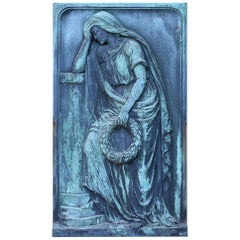 Finely Cast Bronze Wall Plaque of a Classical Figure