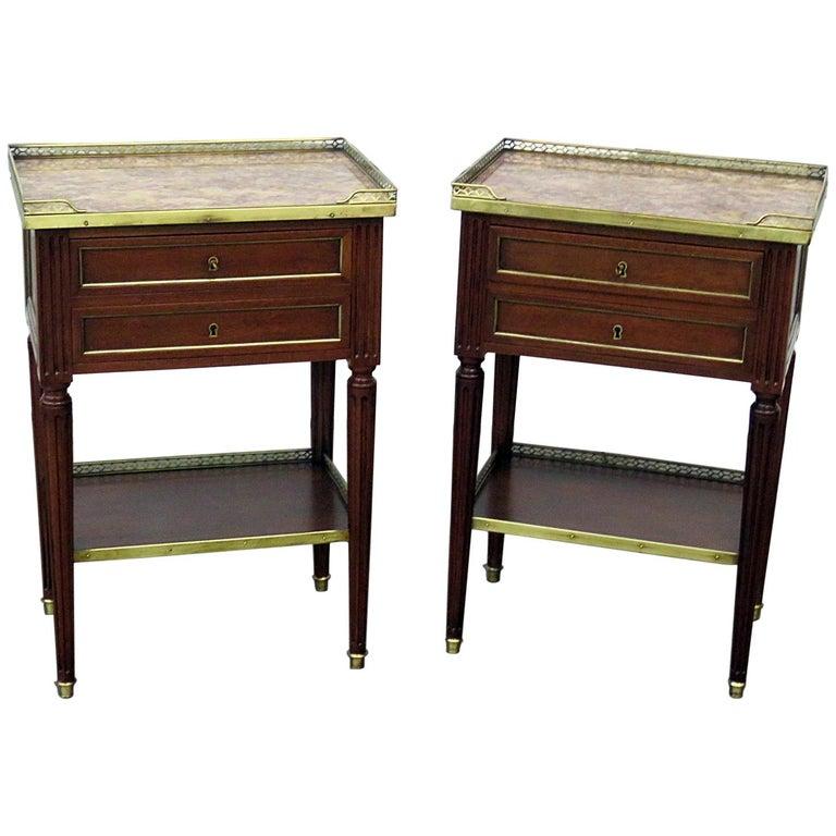 Pair of Maison Jansen Louis XVI Style End Tables