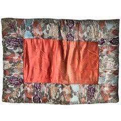 Japanese Fine Vintage Silk Meditation Pillow Rug Cushion