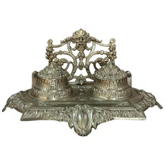 19th Century French Renaissance Revival Cast Bronze Inkwell