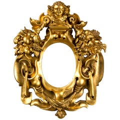 Central Italy Oval Frame, 19th Century