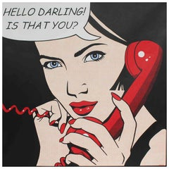 J Mellor 'Hello Darling Is That You?', Oil Canvas