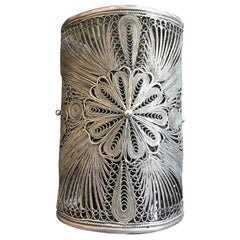 Filligre Sterling Silver Italian Bracelet, 19th Century