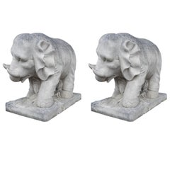 Pair of Stone Elephants by Talisman