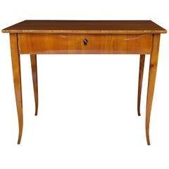 Biedermeier Work Table, Cherry Veneer, South Germany circa 1825