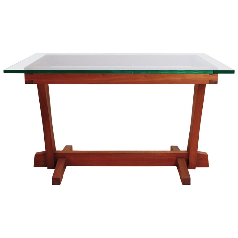 American Studio Craft Nakashima Style Writing Table For Sale