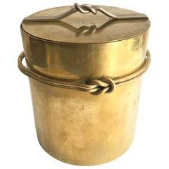 Italian 1970s Ice Bucket in Brass