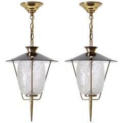Pair of French Modern Lanterns, 1950s