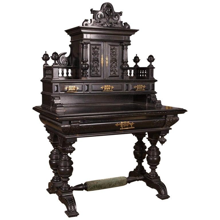 19th Century Gründerzeit Secretaire Desk, circa 1880