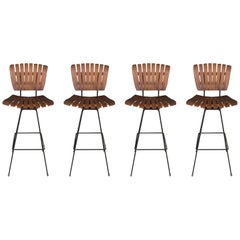 Four Arthur Umanoff Barstools for Raymor