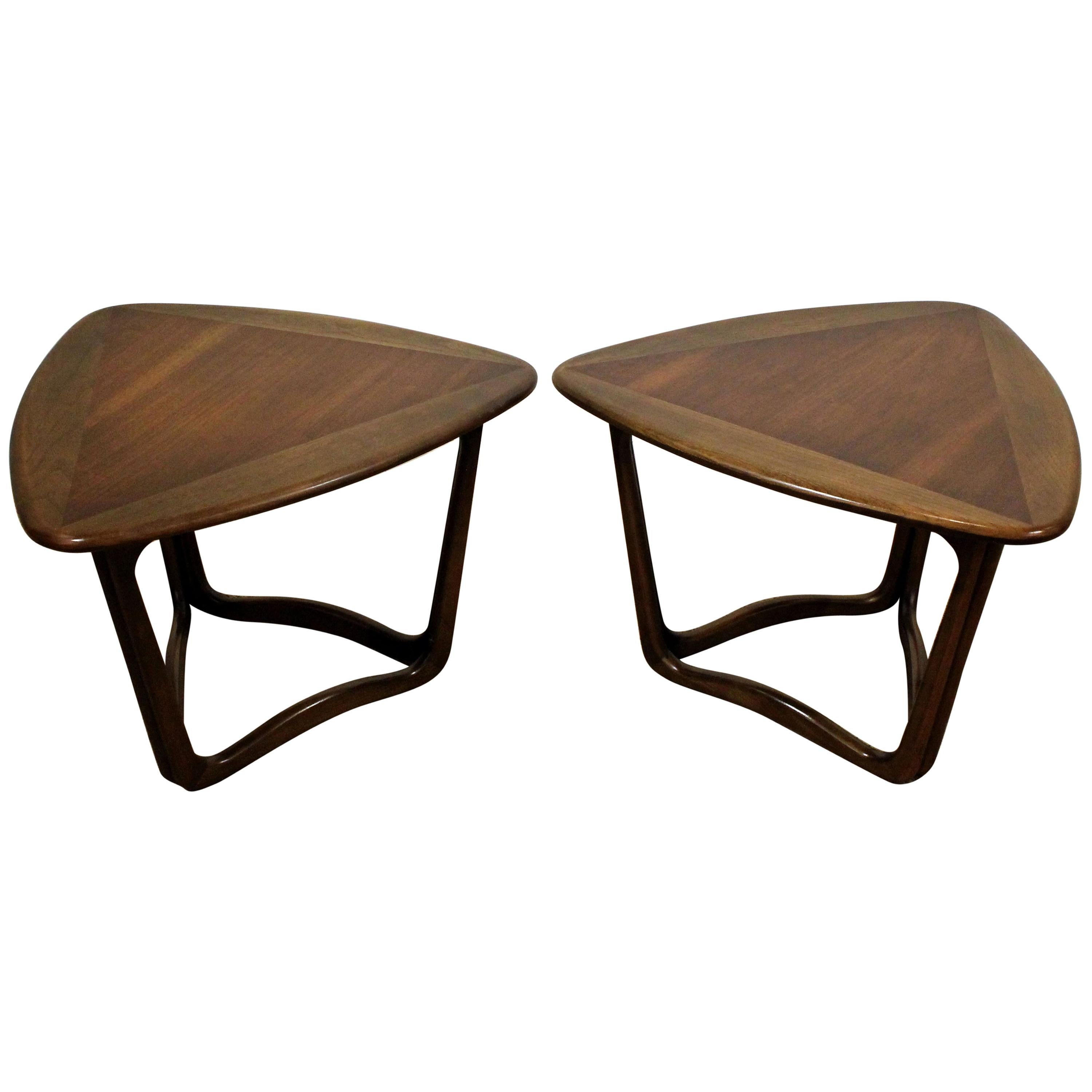 Pair Of Mid Century Modern Lane Perception Guitar Pick End Tables