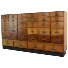 Cherry Wood Boots Pharmacy Drawers, circa 1920s