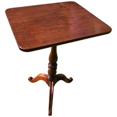 19th Century Mahogany Tripod Wine Table