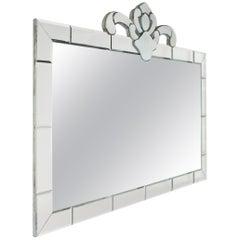 Large Horizontal Mirror Frame Mirror with Mirror Detail, circa 1940
