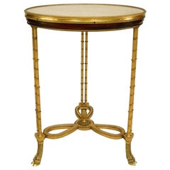 French Charles X Style '20th Century' Gueridon End Table