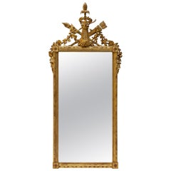 Rectangular Louis XVI Giltwood Mirror