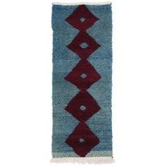 Vintage Turkish Ceki Tulu Accent Rug, Tribal Shag Wall Hanging Taptestry