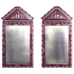 English Regency Style Faux Bamboo Wall Mirror