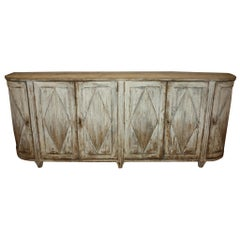 Swedish Painted Buffet with Curved Sides