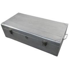 Large aluminium suitcase, Verlin brand, circa 1960