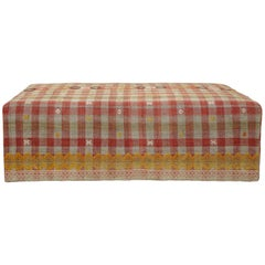 Nickey Kehoe Collection Vintage Kilim Ottoman