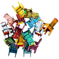Chair Jumble Sculpture by Paul Jacobsen
