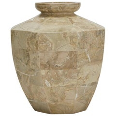 Short Octagonal Vase in Tessellated Cantor Stone