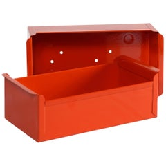 1950s Card File Drawers, Refinished in Red