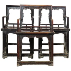 Chinese Armchair Set of Three