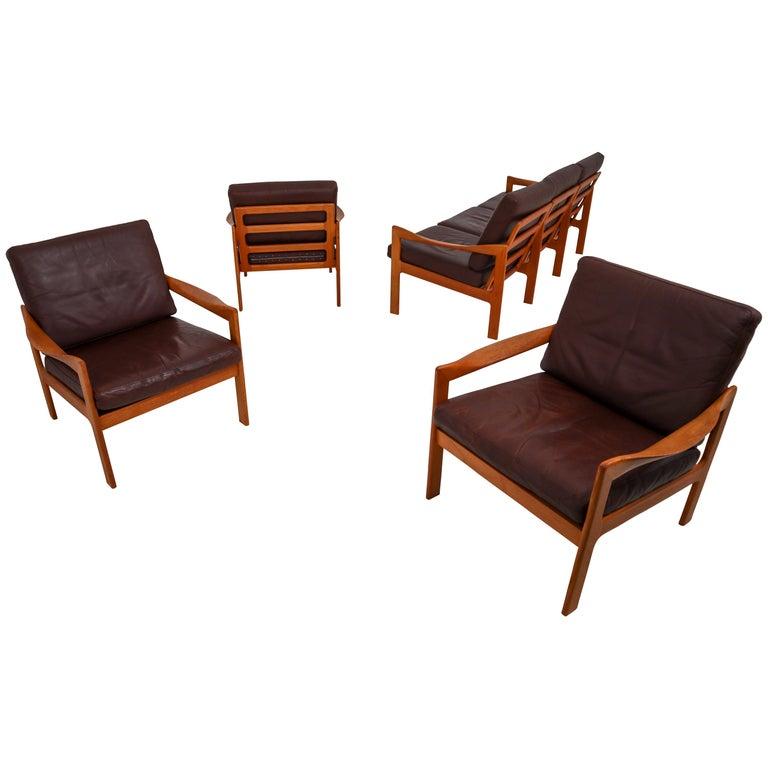 Teak Living Room Set Designed by Illum Wikkelsø and Produced by Eilersen