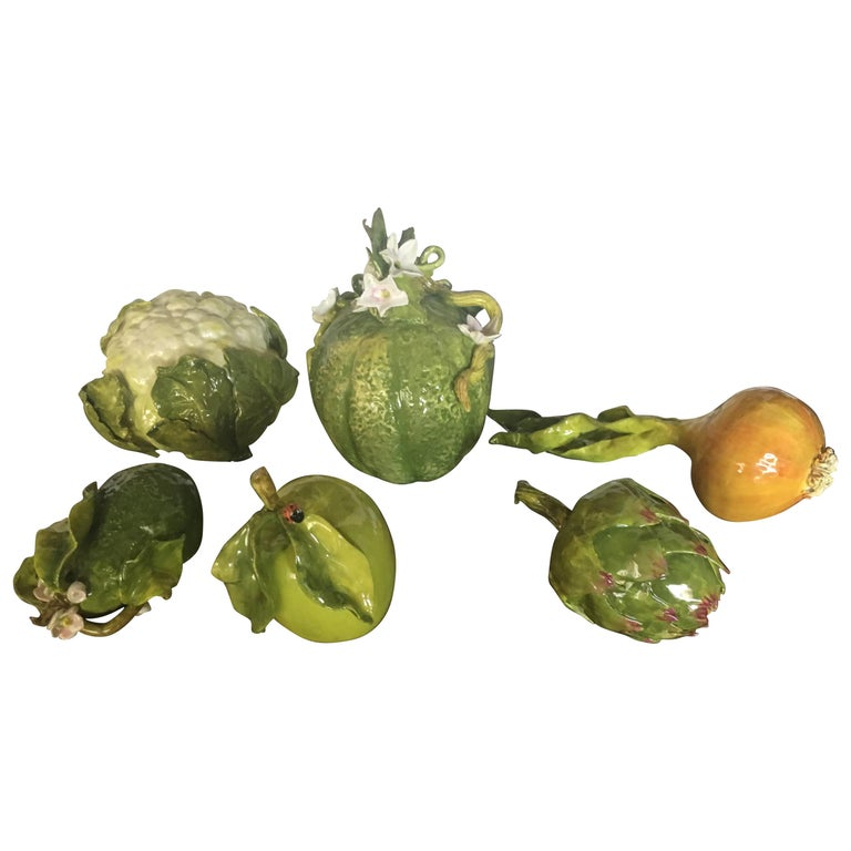 Collection of Six Italian Vegetables In The Style Of Dodie Thayer For Sale