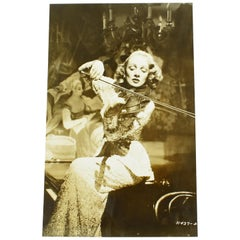 Anonymous, Silver Gelatin Print Black and White Photograph Marlene Dietrich