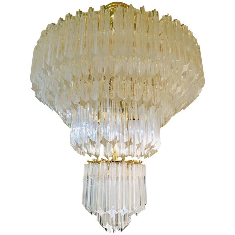 Vintage Murano Glass Chandelier, circa 1960s