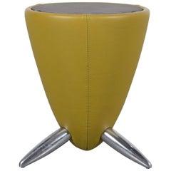 Leolux Tamtam Designer Leather Foot-Stool Green Bench