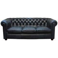 Antique Blue Chesterfield Sofa