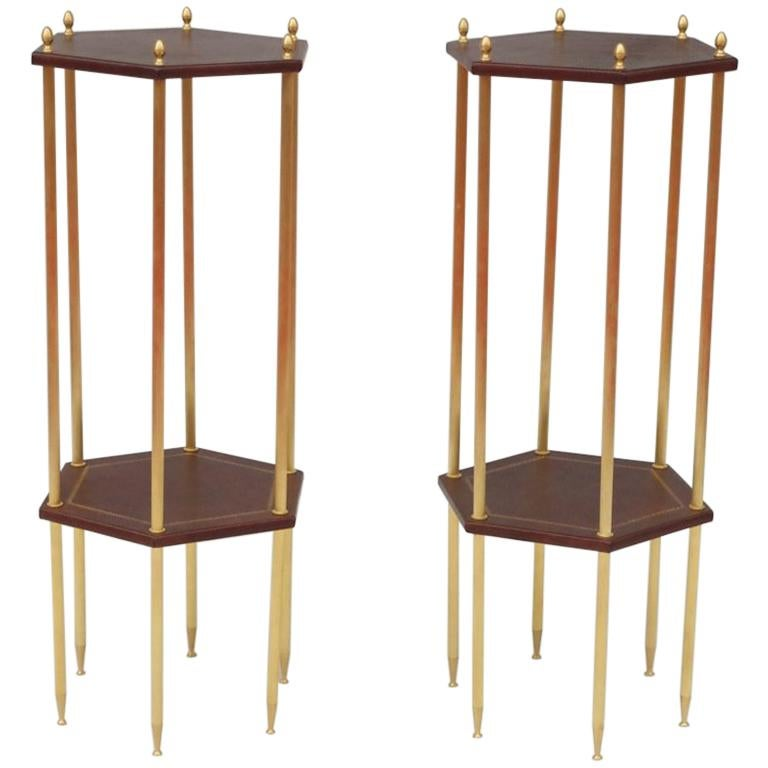 Pair of Small Hexagonal Side Tables