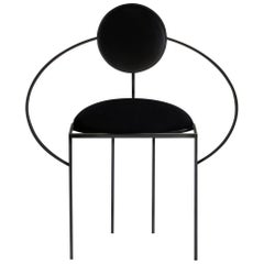 Lara Bohinc, Orbit Chair, Coated Steel and Wool Fabric, Black