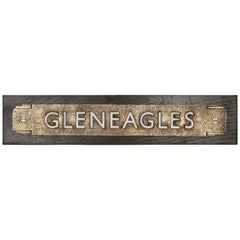 Bronze Art Deco 'Gleneagles' Sign