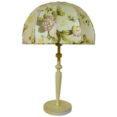 Josef Frank for Swedish Tenn Large Table Lamp with Cream-Colored Floral Screen