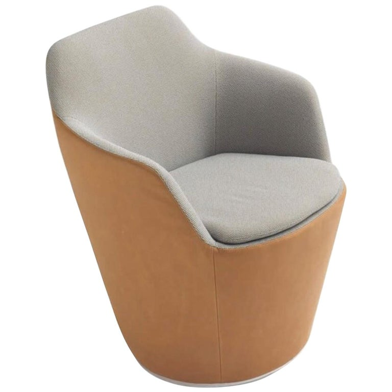 Flint Revolving Armchair by Jehs & Laub in Fabric or Leather for COR