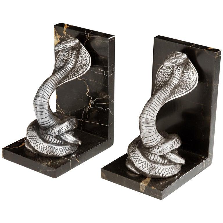 Art Deco 'Cobra' Bookends
