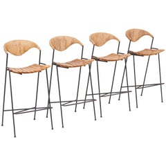 Set of Four Bar Stools by Arthur Umanoff, US, 1950s