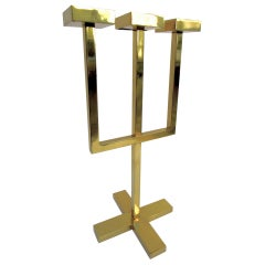 Forch Candleholder in Brass by Nicola Falcone Made in Italy