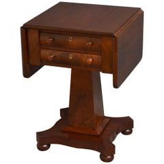 Low William IV Mahogany Work Table